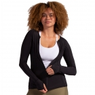 BloqUV Women's Sun Protective Full Zip Long Sleeve Athletic Top (Black) - Women's Warm-Ups