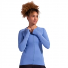 BloqUV Women's Sun Protective Full Zip Long Sleeve Athletic Top (Indigo) - Women's Warm-Ups