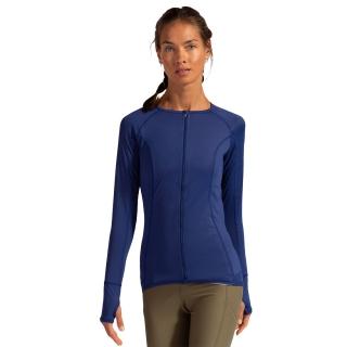 BloqUV Women's Sun Protective Full Zip Long Sleeve Athletic Top (Navy)