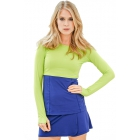 Bloq-UV Long Sleeve Tennis Crop Top (Key Lime) - Women's Long-Sleeve Shirts