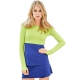 Bloq-UV Long Sleeve Tennis Crop Top (Key Lime) - Shop Your Favorite Tennis Brands