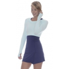 Bloq-UV Long Sleeve Tennis Crop Top (Mint) - Women's Warm-Ups