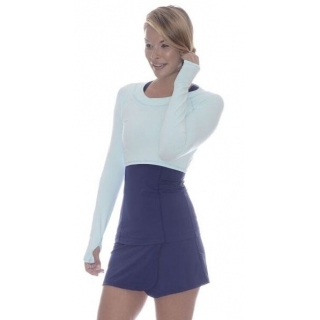 Bloq-UV Long Sleeve Tennis Crop Top (Mint)