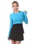 Bloq-UV Long Sleeve Tennis Crop Top (Turquoise) - Women's Outerwear