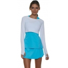 Bloq-UV Long Sleeve Tennis Crop Top (White) - Women's Warm-Ups