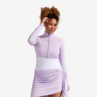 BloqUV Women's Long Sleeve Full Zip Sun Protective Athletic Crop Top (Lavender) - Women's Outerwear