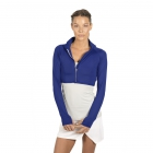 Bloq-UV Long Sleeve Full Zip Crop Top (Twilight Blue) - Women's Long-Sleeve Shirts