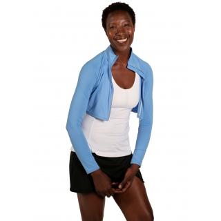 Bloq-UV Long Sleeve Full Zip Crop Top (Indigo)