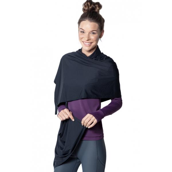 BloqUV UPF 50+ Sun Protective Blanket Wrap (Black)