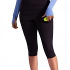 BloqUV Women's Compression Capri Tennis Skort with Ball Pocket (Black) -