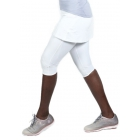 Bloq-UV Compression Capri Skort with Ball Pocket (White) - Bloq-UV Women's Skirts & Skorts
