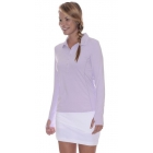 BloqUV Women's Sun Protective Collared Long Sleeve Athletic Top (Lavender) - Women's Long-Sleeve Shirts