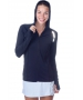 BloqUV Women's Sun Protective Full Zip Athletic Hoodie (Black) - Women's Warm-Ups