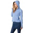 BloqUV Women's Sun Protective Full Zip Athletic Hoodie (Indigo) -