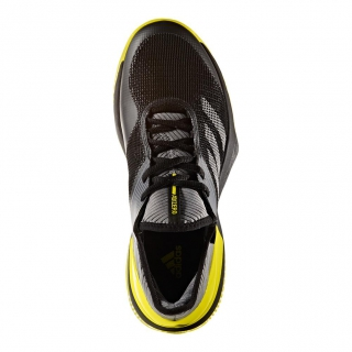 free shipping b032b dbc6c Adidas Womens Adizero Ubersonic 3.0 Clay Court Tennis Shoes (BlackYellow)