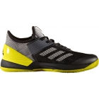 Adidas Women's Adizero Ubersonic 3.0 Clay Court Tennis Shoes (Black/Yellow) - Clearance Sale! Discount Prices on Men's Tennis Shoes