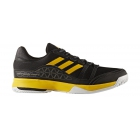Adidas Men's Barricade Court Tennis Shoe (Core Black/Equestrian Yellow/Night Metallic Black) - Tennis Shoe Brands