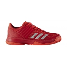 Adidas Junior Ligra 5 Tennis Shoe (Scarlet/Energy Pink/Silver) - Adidas Junior Tennis Shoes