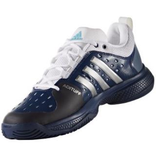 b0752e5c4 Adidas Men s Barricade Classic Bounce Tennis Shoes (Mystic Blue  Silver White)