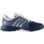 Adidas Men's Barricade Classic Bounce Tennis Shoes (Mystic Blue/Silver/White) - 6-Month Warranty Shoes