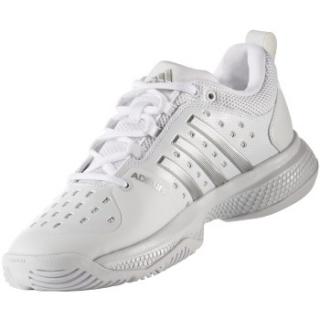 Mujeres Adidas Barricade - Bounce tennis zapatos (White / Silver