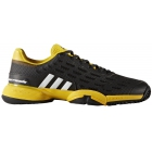 Adidas Barricade Club xJ Junior Tennis Shoe (Black/White/Equipment Yellow) - Tennis Shoe Brands