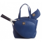 Court Couture Cassanova Quilted Tennis Bag (Navy) - Court Couture Tennis Bags