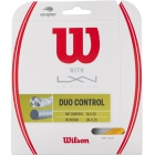 Wilson Duo Control Hybrid NXT Control & Luxilon 4g Rough 16g Tennis String Set - Tennis String Type