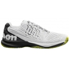Wilson Men's Kaos 2.0 Tennis Shoes (White/Black/Safety Yellow) - Lightweight Tennis Shoes