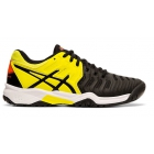 Asics Junior Gel Resolution 7 GS Tennis Shoes (Black/Sour Yuzu) - Asics Junior Tennis Shoes