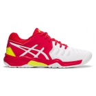 Asics Junior Gel Resolution 7 Tennis Shoes (White/Laser Pink) - Asics Tennis Shoes