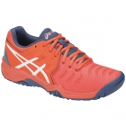 Asics Junior Gel Resolution 7 GS Tennis Shoes (Papaya/White) - Junior Tennis Shoes