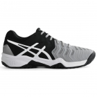 Asics Junior Gel Resolution 7 Tennis Shoes (Mid Grey/Black/White) - Asics Tennis Shoes