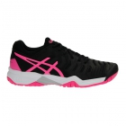 Asics Gel Resolution 7 Junior Tennis Shoes (Black/Hot Pink/Silver) - Tennis Shoes