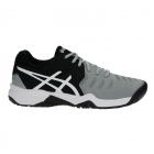 Asics Gel Resolution 7 Junior Tennis Shoes (Mid Grey/Black/White) - Tennis Shoes