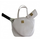 Court Couture Cassanova Croco-embossed Tennis Tote (Frost) - Tennis Bag Brands