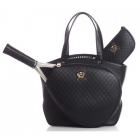 Court Couture Cassanova Quilted Tennis Bag (Black) - Court Couture Tennis Bags