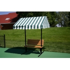 SunTrends Cabana Bench 6' - Tennis Benches