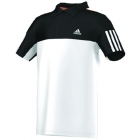 Adidas Response Traditional Polo (White/Black) - Tennis Apparel Brands