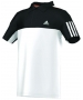 Adidas Response Traditional Polo (White/Black) - Adidas Men's Apparel Tennis Apparel