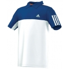 Adidas Response Traditional Polo (White/Blue) - Adidas Men's Apparel Tennis Apparel