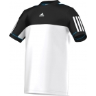 Adidas Boys Response Tee (White/ Black) - Boy's Tennis Apparel