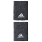 Adidas Large Tennis Wristbands (Grey/ White) - Adidas Women's Apparel Tennis Apparel