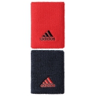 Adidas Large Tennis Wristbands (Red/ Black) - Adidas Women's Apparel Tennis Apparel
