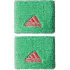 Adidas Women's Small Tennis Wristbands (Green & Red) - Tennis Accessories
