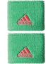 Adidas Women's Small Tennis Wristbands (Green & Red) - Adidas Women's Apparel Tennis Apparel