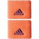 Adidas Women's Small Tennis Wristbands (Orange/ Purple) - New Style Tennis Apparel