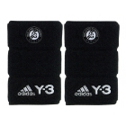 Adidas Roland Garros Y-3 Wristband (Black & White) - Headbands & Writsbands