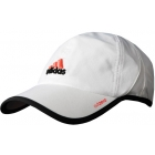 Adidas Men's adiZero Cap (White/ Black/ Red) - Adidas