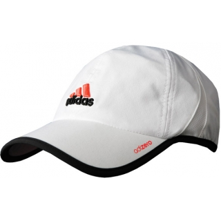 Adidas Men's adiZero Cap (White/ Black/ Red)
